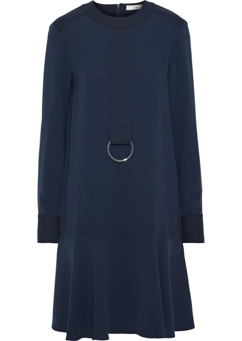 Tibi Woman Ring-embellished Crepe Dress Navy