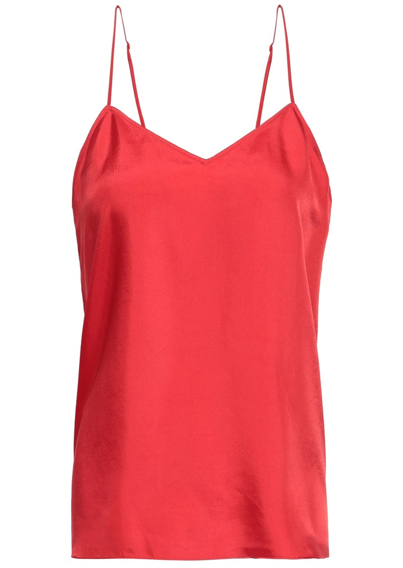 Tibi Woman Mendini Satin-twill Camisole Red