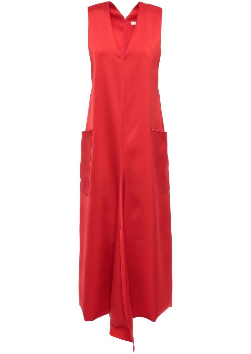 Tibi Woman Satin-twill Midi Dress Tomato Red