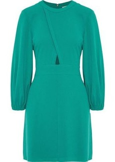 Tibi Woman Savannah Cutout Crepe Mini Dress Emerald