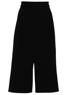 Tibi Woman Stretch-crepe Skirt Black