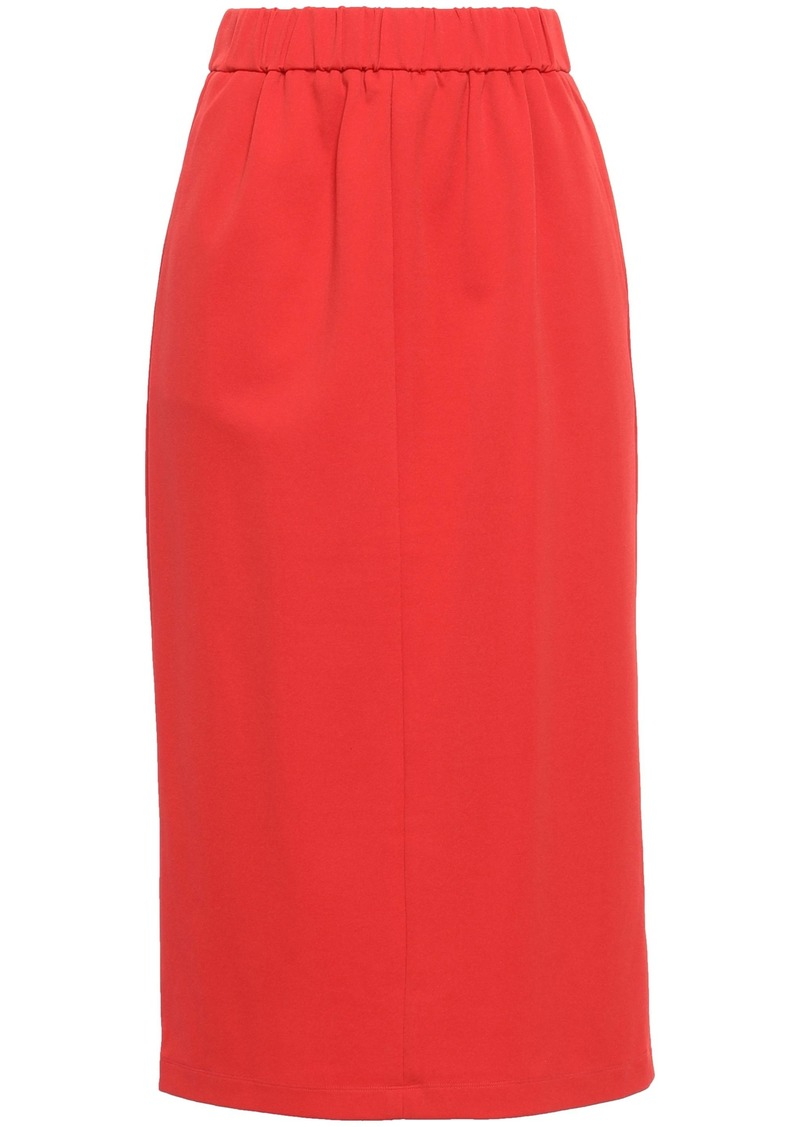 Tibi Woman Stretch-jersey Midi Pencil Skirt Tomato Red