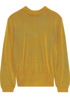 Tibi Woman Stretch-knit Sweater Mustard