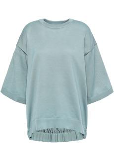 Tibi Woman Stretch-knit Top Grey Green