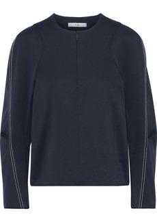 Tibi Woman Stretch-twill Top Midnight Blue