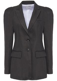 Tibi Woman Twill Blazer Dark Gray