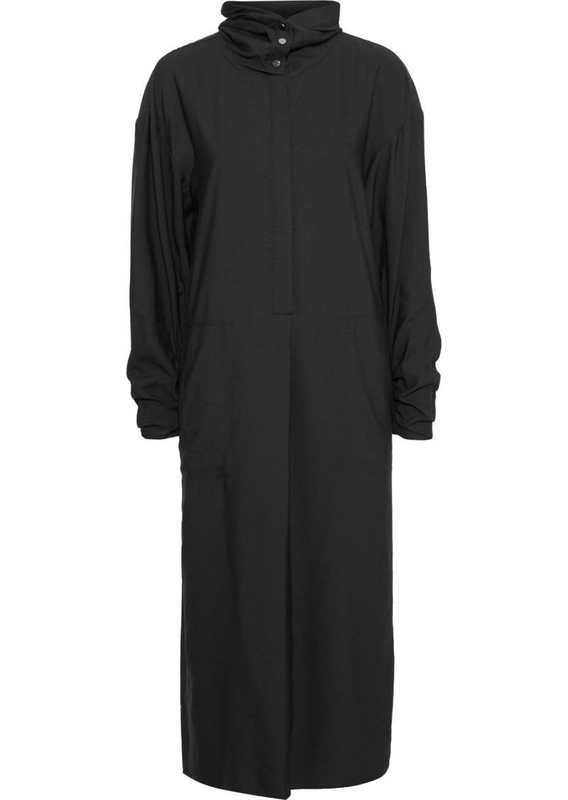 Tibi Woman Twill Hooded Midi Dress Black
