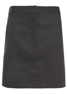 Tibi Woman Twill Mini Skirt Dark Gray