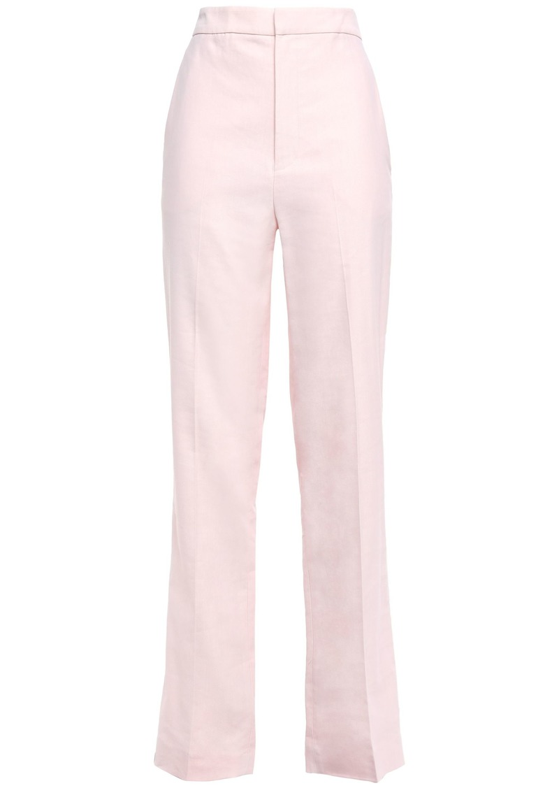 Tibi Woman Twill Straight-leg Pants Pastel Pink