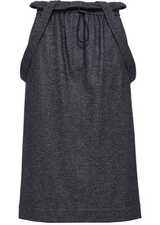 Tibi Woman Wool And Cotton-blend Tweed Midi Skirt Navy