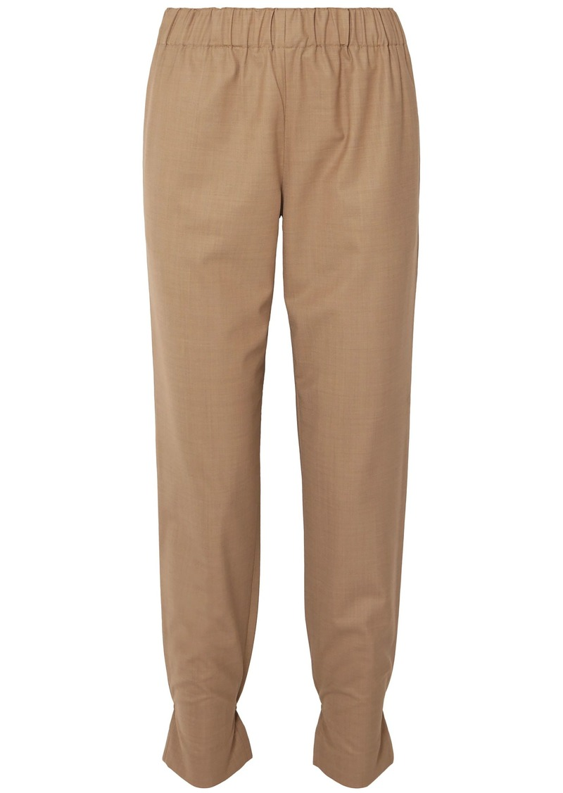 Tibi Woman Woven Tapered Pants Light Brown