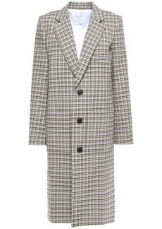 Tibi Woman Zion Checked Cotton-blend Coat Beige