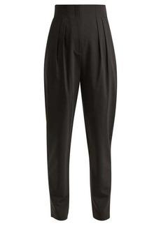 Tibi Yasmeen pleated high-rise trousers