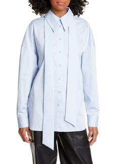 Tibi Zip Detail Easy Shirt