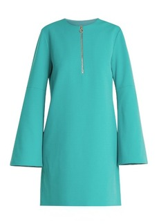 Tibi Zip-front crepe mini dress