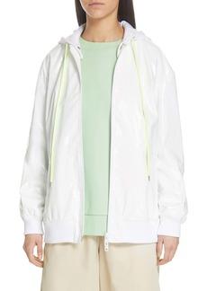 Tibi Zip-Up Coated Jacket