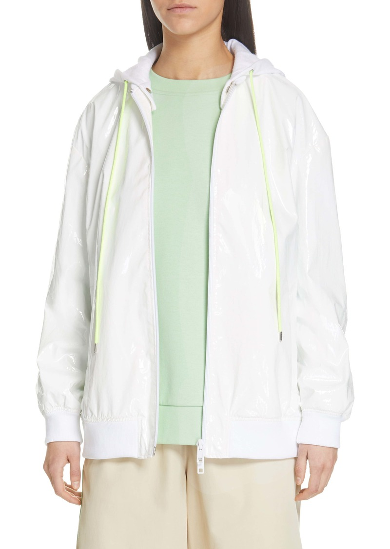 Tibi Zip-Up Coated Jacket
