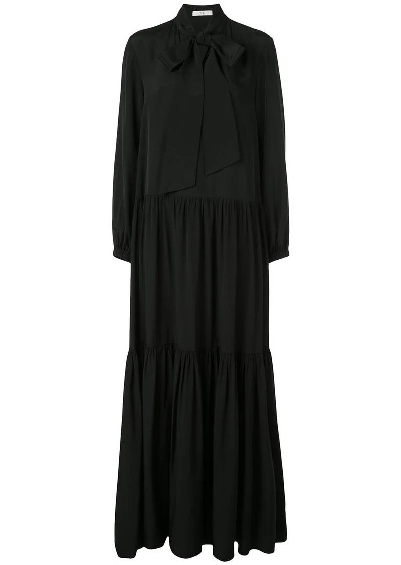 Tibi tie neck flared dress