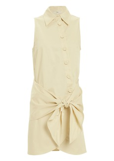Tibi Tie Waist Shirt Dress