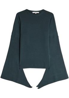 Tibi Tied Sleeve Merino Wool Pullover