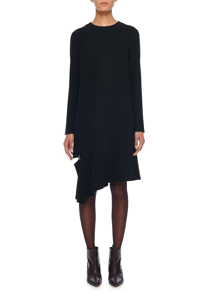 Tibi Triacetate Shift Dress with Detached Hem