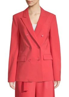 Tibi Tropical Steward Wool-Blend Blazer
