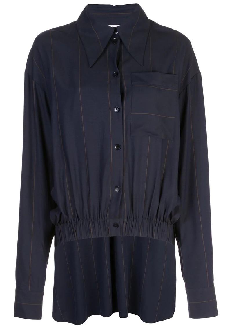 Tibi twill stripe shirt dress