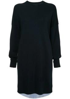 Tibi two tone shirt sweater dress
