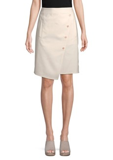 Tibi Urban Stretch Wrap Skirt