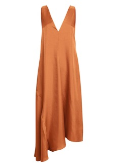 Tibi V-Neck Draped Dress