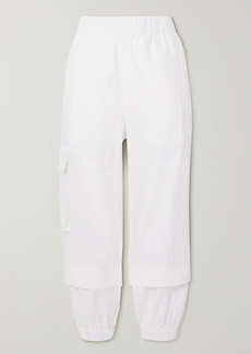 Tibi Vintage Cropped Cotton Tapered Pants