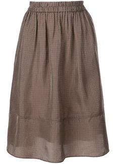 Tibi Walden checked skirt