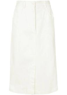 Tibi washed twill pencil skirt