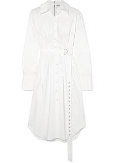 Tibi Watts Cotton Oxford Midi Dress