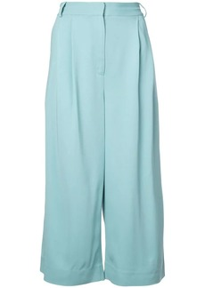 Tibi wide leg cropped trousers