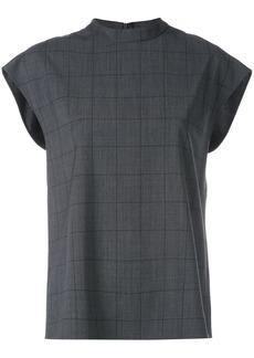 Tibi windowpane sleeveless top