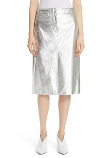 Women's Tibi Tech Faux Leather Trouser Skirt