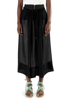 aa553ed8e Tibi Metallic Faux-Leather A-Line Midi Skirt | Skirts