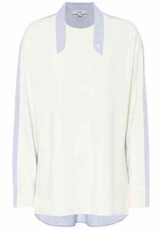 Tibi Wool-blend shirt sweater