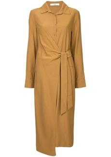 Tibi wrap front shirt dress