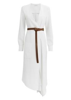Tibi Wrap Midi Dress