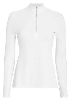 Tibi Zip-Up White Top