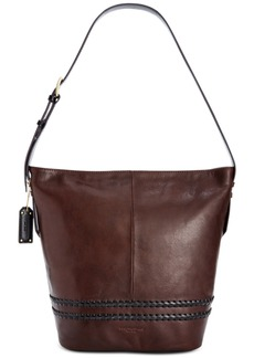 Tignanello Classic Boho Vintage Leather Bucket Bag