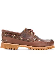 Timberland contrast stitch boat shoes