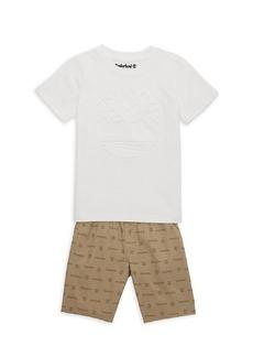 Timberland Little Boy's 2-Piece Logo T-Shirt & Shorts Set