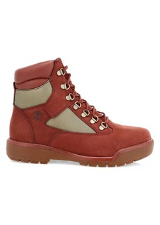 Timberland Mixed-Media Leather Waterproof Field Boots