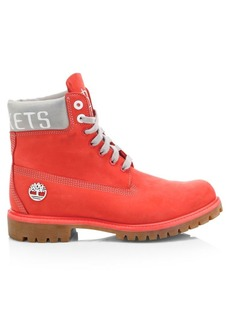 Timberland NBA Collection Houston Rockets Lace-Up Leather Boots