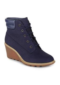 Timberland Amston Leather Wedge Booties