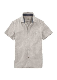 Timberland Apparel Timberland Men's Mill River Cotton/Linen Chambray SS Shirt