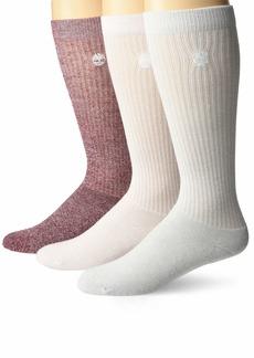 Timberland Women's 3-Pack Ribbed Full Comfort Boot Socks